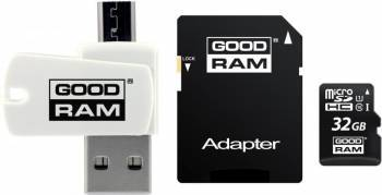 Card de Memorie Goodram M1A4 MicroSDHC 32GB Clasa 10+OTG+Adaptor Carduri Memorie