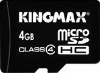 Card de Memorie Kingmax microSDHC 4GB Class4 adaptor