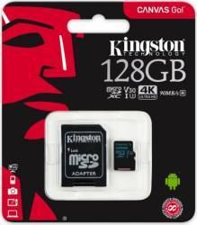 Card de memorie Kingston microSDXC 128GB clasa 10 UHS-I R/W 45/10 adaptor SD Carduri Memorie