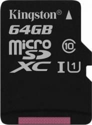 Card de Memorie Kingston Canvas Select 80R microSDXC 64GB Clasa 10 UHS-I 80MB/s Carduri Memorie