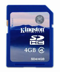 Card de Memorie Kingston Flash SDHC 4GB Class4 Bulk