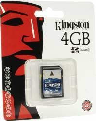 Card de Memorie Kingston Flash SDHC 4GB Class4