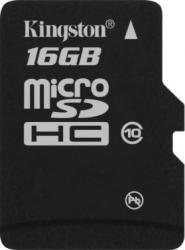 Card de Memorie Kingston microSDHC 16GB Class10 Single Pack