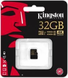 Card de Memorie Kingston MicroSDHC 32GB Clasa 10 U3 UHS-I 90MBs