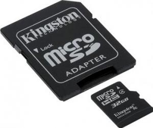 Card de Memorie Kingston microSDHC 32GB Class4 Carduri Memorie