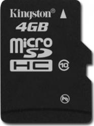 Card de Memorie Kingston microSDHC 4GB Class10 Single Pack