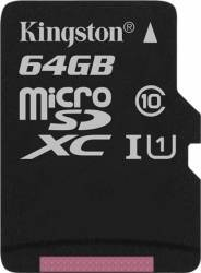 Card de Memorie Kingston microSDXC 64GB Clasa 10 45MBps