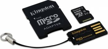 Card de Memorie Kingston microSDXC 64GB Class10 + Card Reader + Adaptor