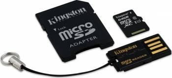 Card de Memorie Kingston microSDXC 64GB Class10 + Card Reader + Adaptor