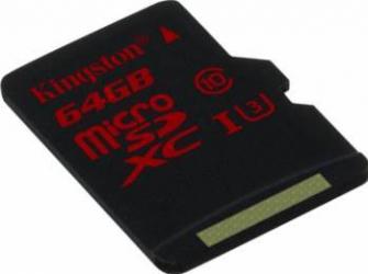 Card de Memorie Kingston microSDXC 64GB UHS-I U3 Clasa 10