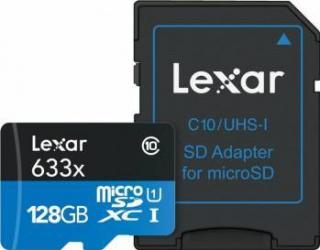 Card de Memorie Lexar MicroSDXC 128GB Clasa 10 UHS-I 95MB/s + Adaptor SD Carduri Memorie