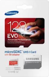 pret preturi Card de memorie Samsung Evo+ microSDXC 128GB Class10 UHS-I + Adaptor