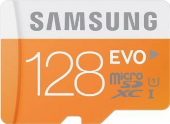 Card de memorie Samsung Evo microSDXC 128GB Class10 UHS-I + Adaptor