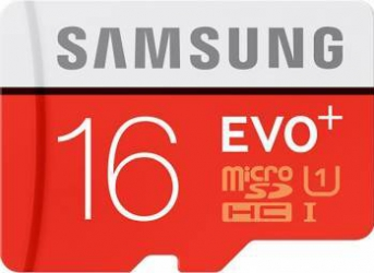 Card De Memorie Samsung EVO Plus MicroSDHC 16GB + Adaptor SD