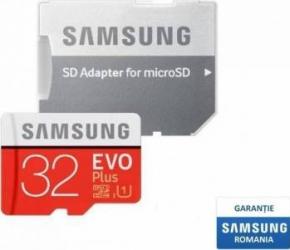 Card de Memorie Samsung EVO Plus microSDHC 32GB Clasa 10 95MB/s UHS-I + Adaptor SD Carduri Memorie