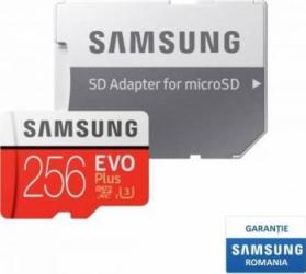 Card de Memorie Samsung EVO Plus microSDXC 256GB Clasa 10 100MB/s UHS-I + Adaptor SD Carduri Memorie