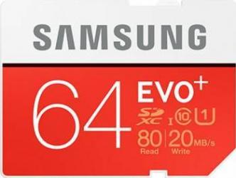 Card de Memorie Samsung EVO SDXC 64GB Clasa 10 UHS-1