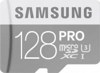 Card de Memorie Samsung microSD PRO Class10 UHS-I U3 128GB + Adaptor SD