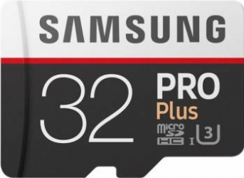 Card de memorie Samsung MicroSDHC 32GB Pro Plus UHS-1 U3 2017 Clasa 10 cu adaptor Carduri Memorie