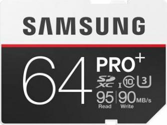Card de Memorie Samsung PRO+ SDXC 64GB Clasa 10 UHS-3