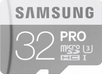 Card de Memorie Samsung PRO microSDHC 32GB Clasa 10 UHS-3 + Adaptor SD
