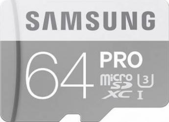 Card de Memorie Samsung PRO microSDXC 64GB Clasa 10 UHS-3