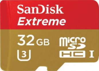 Card de memorie Sandisk Extreme microSDHC 32GB Clasa 10 UHS-1 +Adaptor SD