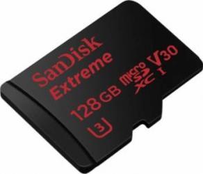 Card de Memorie Sandisk Extreme microSDXC 128GB Clasa 10 UHS-I U3 100MB/s Carduri Memorie