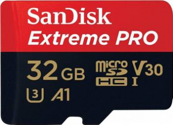 Card de Memorie SanDisk Extreme Pro MicroSDHC 32GB Clasa 10 A1 V30 UHS-I  95MB/s + Adaptor SD Carduri Memorie