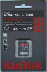 Card de memorie SanDisk SDHC Ultra 8GB Class10