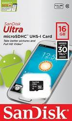 Card de memorie SanDisk Ultra microSDHC 16GB Clasa10 UHS-I