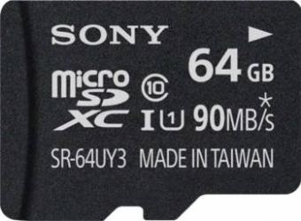 pret preturi Card de memorie Sony Micro SDHC 64GB Clasa 10 + adaptor SD 90 MBs