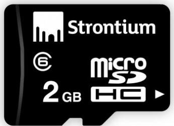 Card de Memorie Strontium microSD 2GB Clasa 6 + Adaptor