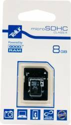 Card de memorie Tellur 8 GB microSDHC Clasa 4 + Adaptor SD