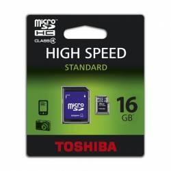 pret preturi Card de memorie Toshiba MicroSD 16 GB Clasa 4 + Adaptor SD