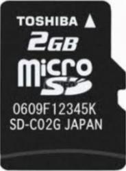 Card de memorie Toshiba microSD 2GB Clasa 4 + Adaptor SD