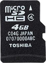 Card de memorie Toshiba microSDHC 4GB Clasa 4 + Adaptor SD