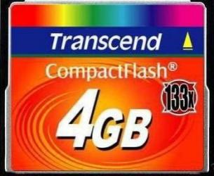 Card de Memorie Transcend Compact Flash 4GB 133X Carduri Memorie