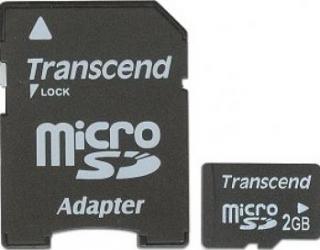 Card de Memorie Transcend microSD 2GB+adaptor Carduri Memorie