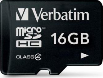 Card de Memorie Verbatim microSDHC 16GB Class 4