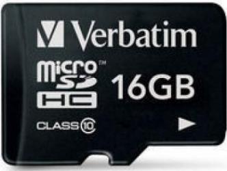 Card de Memorie Verbatim microSDHC 16GB Class10 Carduri Memorie