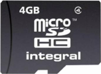 Card Memorie Integral MicroSDHC 4GB Clasa 4 Carduri Memorie