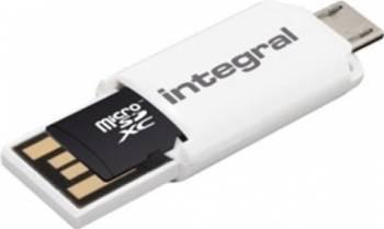 Card Memorie Integral MicroSDHC UHS-I OTG 32GB + Adaptor inmsdh32g10-sptotgr