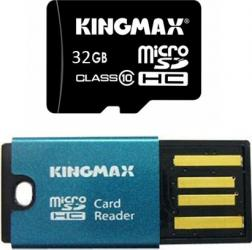 Card Memorie Kingmax microSDHC 32GB Class10 Card Reader