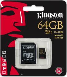 Card memorie Kingston Micro SDXC 64GB Clasa 10 UHS-1
