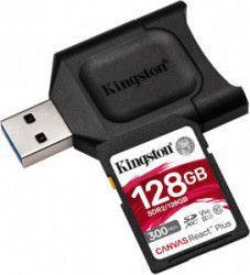 pret preturi Card memorie Kingston SDXC UHS-II U3 Canvas React PLUS 128GB Clasa 10 + cititor USB