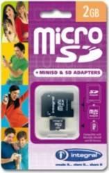Card Memorie MicroSD Integral 2GB + Adaptor SD inmsd2gv2
