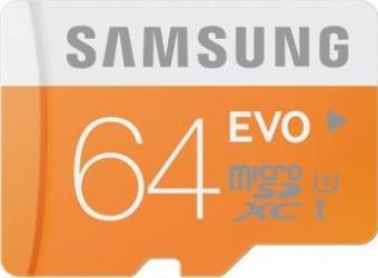 Card memorie Samsung microSD EVO 64GB Clasa 10