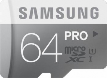 Card memorie Samsung microSD PRO 64GB Clasa 10