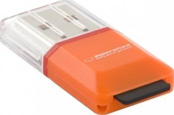 Card Reader Esperanza MicroSD EA134O Portocaliu Cititoare de Carduri